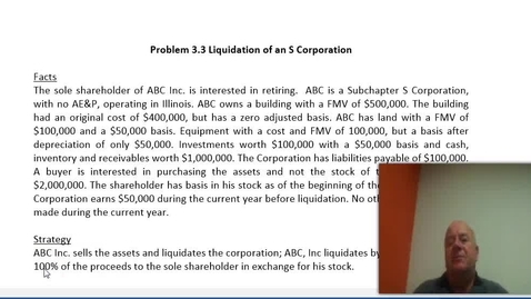 Thumbnail for entry Problem 3.3: Sale of Assets and Gain on Liquidation