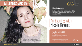 Thumbnail for entry Nicole Krauss, Forest Dark, CAS/MillerComm2019