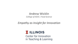 Thumbnail for entry Empathy as Insight for Innovation