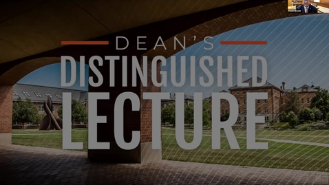 Thumbnail for entry Dean's Distinguished Lecture with Dr. Susan Seestrom