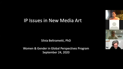 Thumbnail for entry IP Issues in New Media Art - a presentation by Silvia Beltrametti, Ph.D.