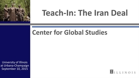 Thumbnail for entry Teach-In: The Iran Deal