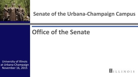 Thumbnail for entry Academic Senate Meeting, Nov. 16, 2015