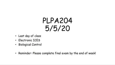 Thumbnail for entry PLPA204 lecture 5/5/20