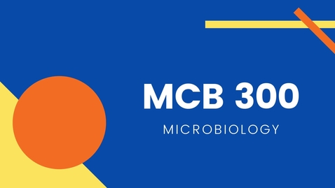 Thumbnail for entry MCB 300 - Microbiology