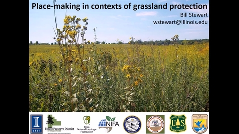Thumbnail for entry NRES 500 Spring 2018 - Stewart - Place-making in contexts of grassland protection