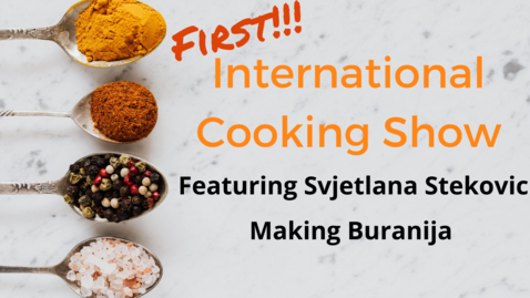 Thumbnail for entry International Cooking Show - October 1st, 2021