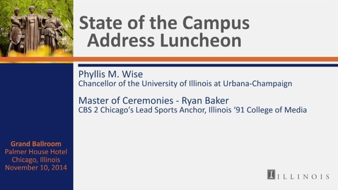Thumbnail for entry State of the Campus Address Luncheon