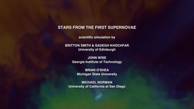 Thumbnail for entry Stars from the First Supernovae