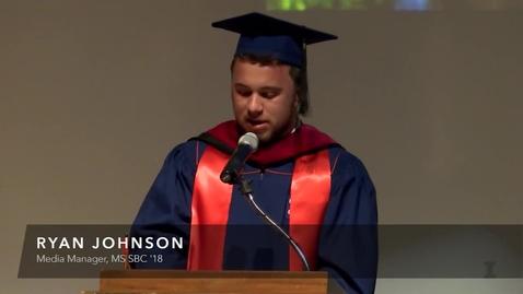 Thumbnail for entry Ryan Johnson at October SBC Graduation