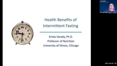 Thumbnail for entry 4.7.2021 - Krista Varady, PhD - NUTR 500 Seminar - Frontiers in Nutritional Sciences