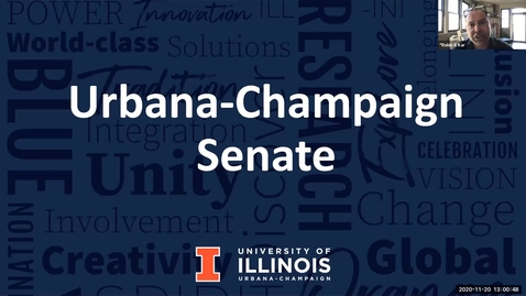 Thumbnail for entry Academic Senate Meeting, Nov. 20, 2020