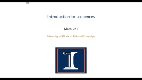 Thumbnail for entry Introduction to sequences