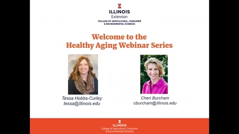 Thumbnail for entry Discover Healthy Aging Series - I'm Positive, I'm Aging