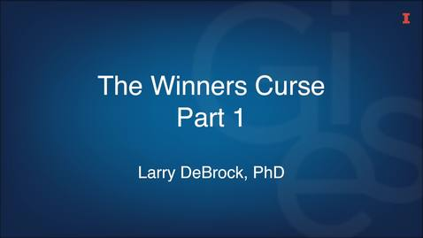 Thumbnail for entry The Winners Curse Part 1