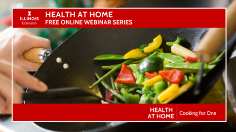 Thumbnail for entry Health at Home: Cooking for One