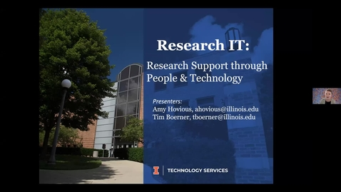 Thumbnail for entry Research Development Webinar Series: Research IT