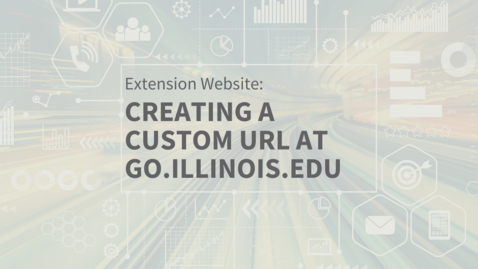 Thumbnail for entry EXT Comms: How to Create a Custom URL