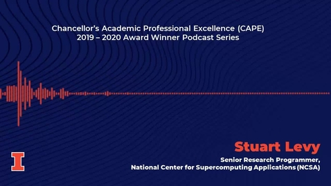 Thumbnail for entry Chancellor's Academic Professional Excellence (CAPE) Award 2019 - 2020 Winner: Stuart Levy