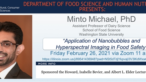 Thumbnail for entry Feb. 26, 2021 FSHN 597 Graduate Seminar- Dr. Minto Michael
