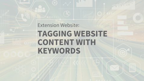 Thumbnail for entry EXT Comms: Adding Keyword Tags to Website Entries