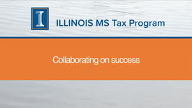 Thumbnail for entry Collaboration in the MS Tax Program