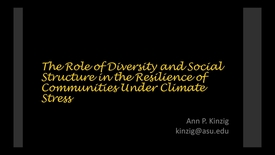 Thumbnail for entry NRES 2016 Fall Seminar - Ann Kinzig