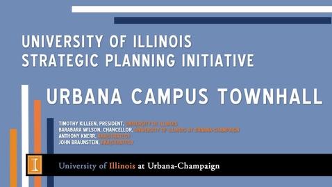 Thumbnail for entry President's Townhall: Strategic Vision for Illinois