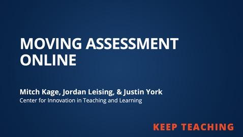 Thumbnail for entry Moving Assessment Online