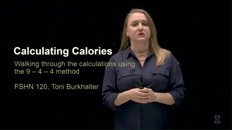 Thumbnail for entry CALCULATING THE CALORIES FROM MACRONUTRIENTS