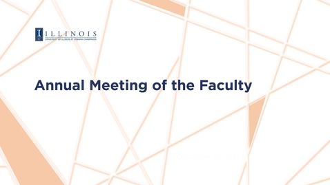 Thumbnail for entry 2017 Annual Meeting of the Faculty