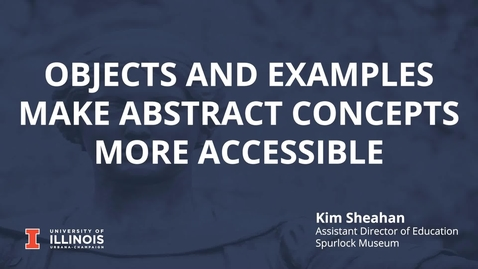 Thumbnail for entry Objects and Examples Make Abstract Concepts More Accessible
