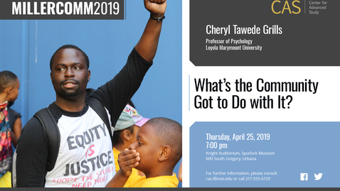 Thumbnail for entry Cheryl Grills, African American Community-Empowerment in Research and Intervention, MillerComm2019