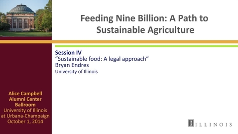Thumbnail for entry Day 2 - Session IV - Sustainable food: A legal Approach