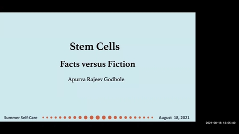 Thumbnail for entry Science of Stem Cells Fact versus Fiction