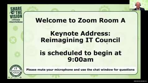 Thumbnail for entry 0A - Keynote Address: Reimagining IT Council - Greg Gulick, Spring 2020 IT Pro Forum
