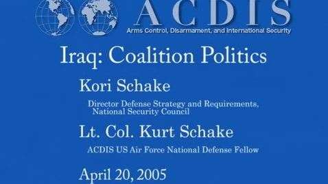 Thumbnail for entry Iraq: Coalition Politics