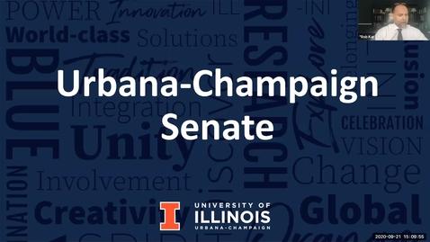 Thumbnail for entry Academic Senate Meeting, Sep. 21, 2020