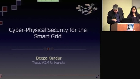 Thumbnail for entry Cyber-Physical Security for the Smart Grid