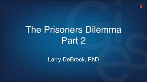 Thumbnail for entry The Prisoners Dilemma Part 2