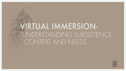 Thumbnail for entry Why Virtual Immersion