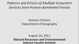 Thumbnail for entry NRES 2011 Fall Seminar Series - Ashwini Chhatre