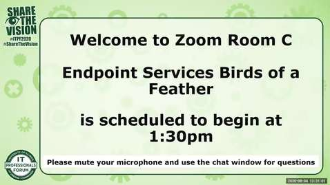 Thumbnail for entry 3C - Endpoint Services Birds of a Feather - Drew Coobs and team - Spring 2020 IT Pro Forum