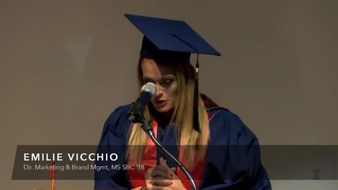 Thumbnail for entry Emilie Vicchio at SBC October Graduation
