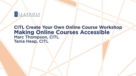 Thumbnail for entry Making Online Courses Accessible