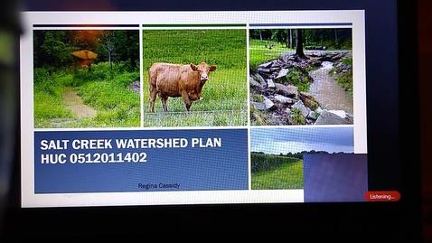 Thumbnail for entry Salt Creek Watershed Plan Presentation