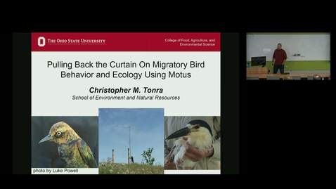 Thumbnail for entry NRES 500 Fall 2018 - Dr. Christopher M. Tonra - Pulling Back the Curtain On Migratory Bird Behavior and Ecology Using Motus
