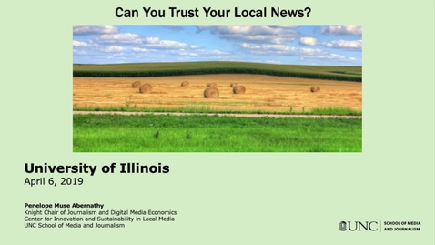 Thumbnail for entry Can You Trust Your Local News?