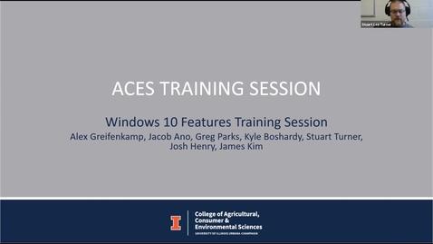 Thumbnail for entry Windows 10 training