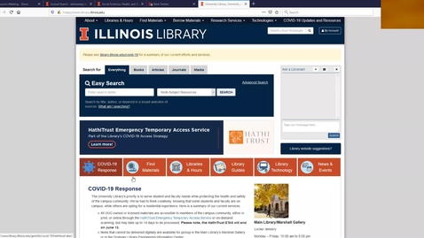 Thumbnail for entry Library Resource Overview by Nancy O'Brien